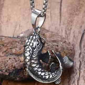 koi fish pendant necklace