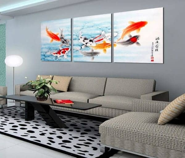 canvas paintings koi fish paintings