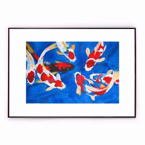 Koi fish Art Water Color koi fish painting