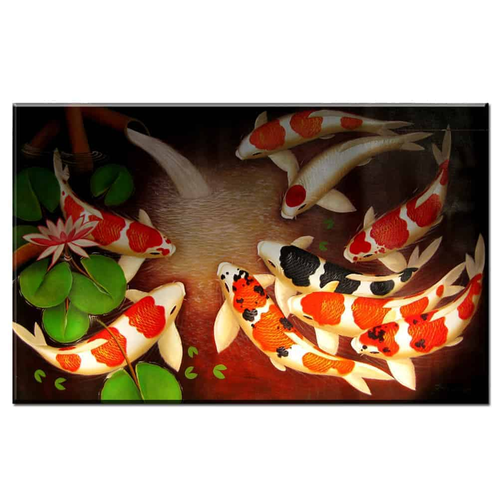koi painting (koi fish feng shui) koi fish painting for sale