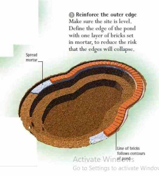 koi pond construction guide installing pond liner