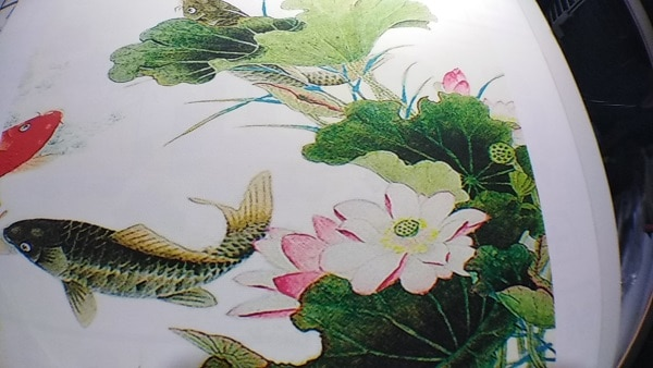9 koi fish chinese calligraphy painting