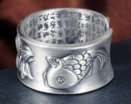 koi fish sterling silver 990