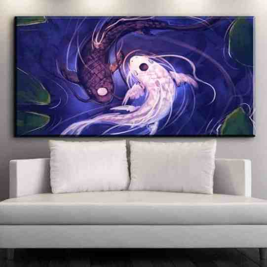 koi fish yin yang koi fish paintings for sale