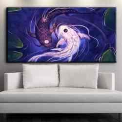 yin yang koi painting