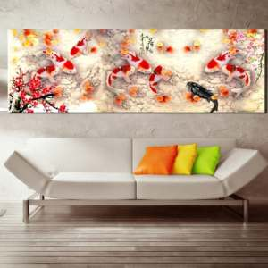 chinese calligraphy painting koi fish feng shui painting for sale