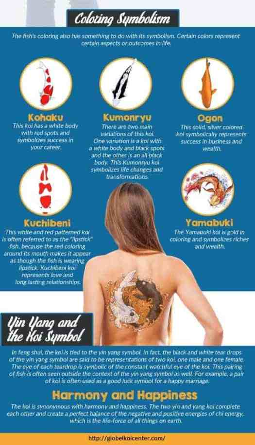 koi fish meaning in koi fish tattoo infographic
