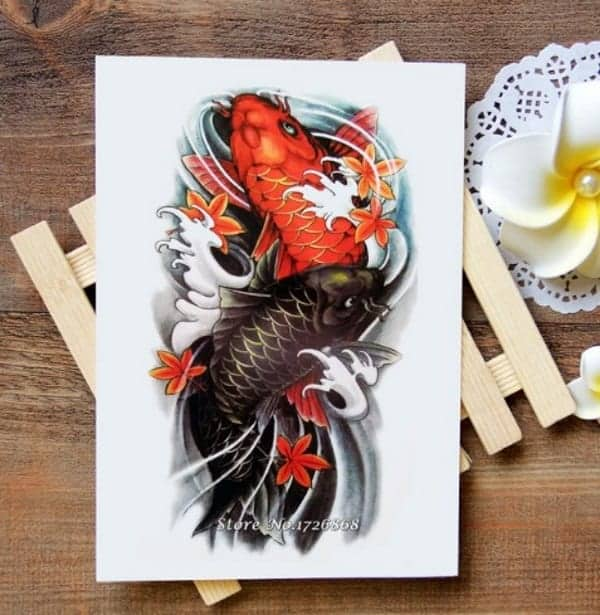 5bd9646aa9627 Awe-inspiring Koi Fish Tattoo Meaning Color, Direction, you need to know