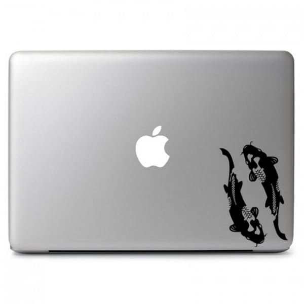 macbook koi fish print