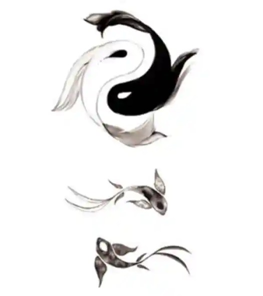 koi fish meaning yin yang koi fish tatto design