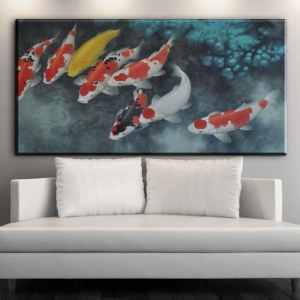 8 koi fish painting