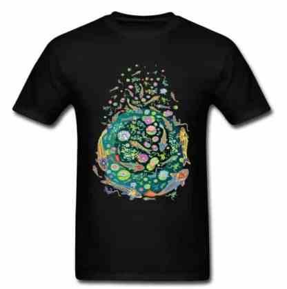 Koi fish shirt doodle art design black color for sale