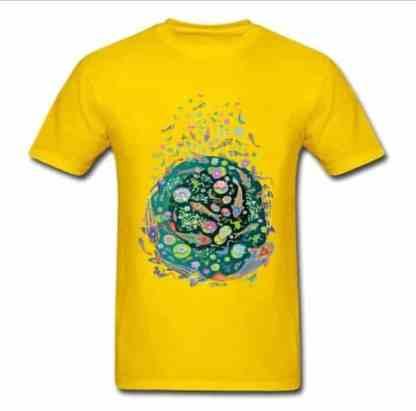 Koi fish shirt doodle art design yellow for sale