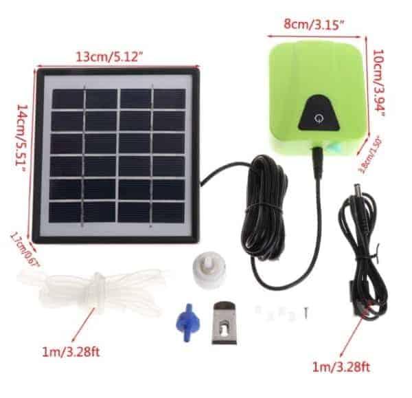 solar powered pond aerator
