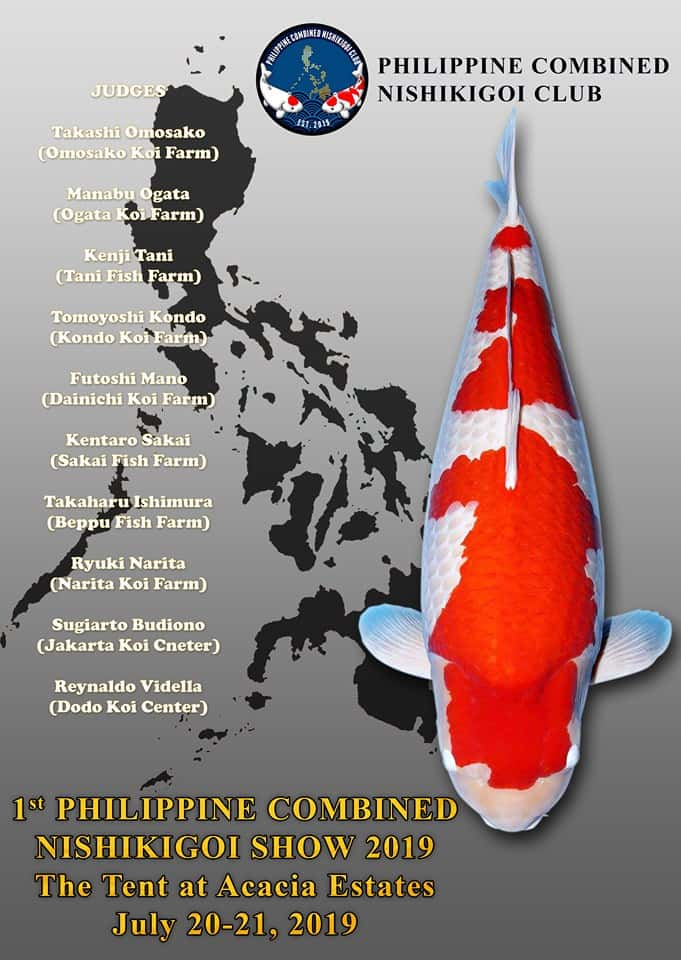 1st Philippine Combined Nishikigoi Show National Koi show 2019
