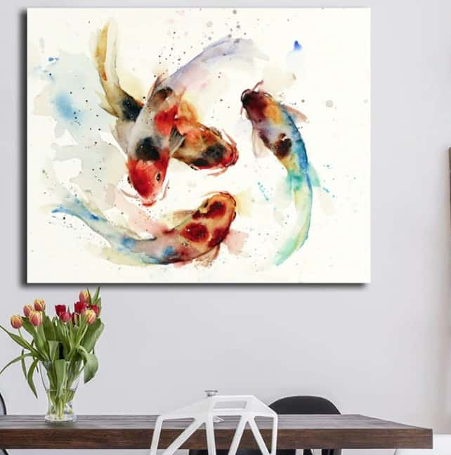 watercolor koi painting