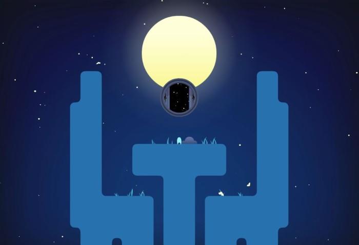 Momento relax alla fine del livello, con luna e altro cerchio stellato!