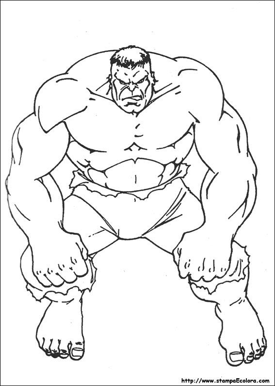 Hulk da Colorare 1
