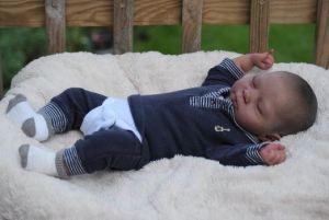 bambola reborn maschietto che dorme