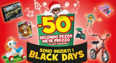 black friday giocattoli toys center