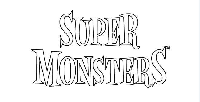 super monsters netflix disegni da colorare scritta