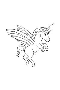 Unicorni da stampare e colorare unicorno rampante