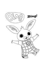 disegni di bing da colorare bing