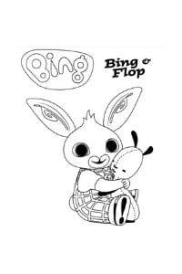 disegni di bing da colorare bing e flop