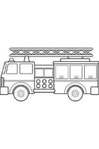 autoscala dei pompieri da colorare