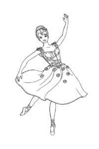 barbie ballerina disegno da colorare