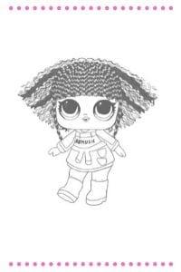 disegni da colorare lol surprise hair vibes ryhmes