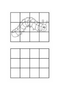 disegni da copiare bruco