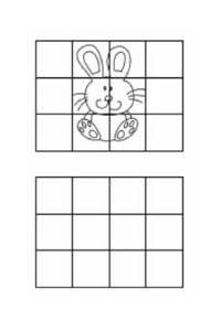 disegni da copiare coniglietto