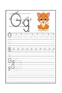 Scheda Pregrafismo lettera G