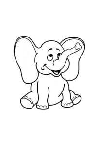 disegni da colorare e stampare per bambini di 3 anni Elefante