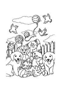disegni da colorare in formato A4 cani