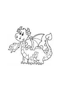 disegni da colorare in formato A4 drago