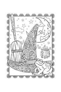 disegni da colorare in formato A4 strega