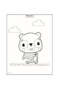 disegni da colorare per bambini 4 anni orsetto
