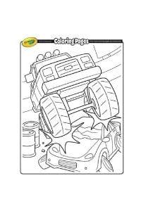 disegni da colorare per bambini di 7 anni monster truck