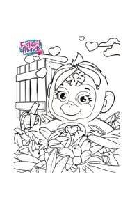 disegni da colorare per bambini di 8 anni furreal scimmietta