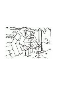 disegni da colorare per bambini di 9 anni minecraft