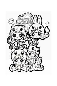 disegni da colorare per bambini di 9 anni ragazze kawaii