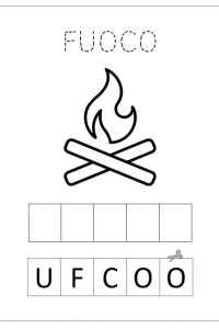Schede pregrafismo alfabeto lettera F