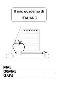 copertina quaderno di italiano