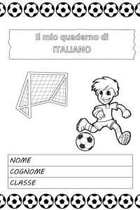 copertina quaderno italiano calcio