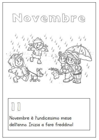 i mesi dell'anno da colorare - novembre