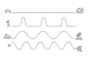 pregrafismo linee rette e curve da stampare