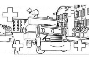 Super Truck disegni da colorare e stampare PDF Amber ambulanza