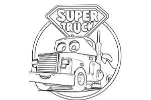 Super Truck disegni da colorare e stampare PDF Carl Trasform amazon prime video